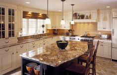 golden crystal granite white cabinets