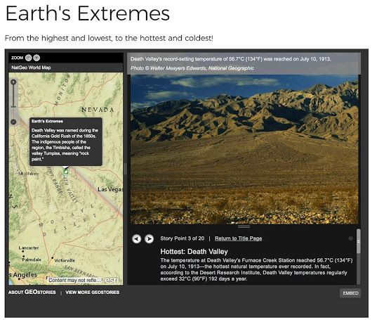 #OTD 1913, the temperature in Death Valley soared to a record 134°F. What are some other Earth extremes? http://on.natgeo.com/2v2M9gg - National Geographic Education - Google+