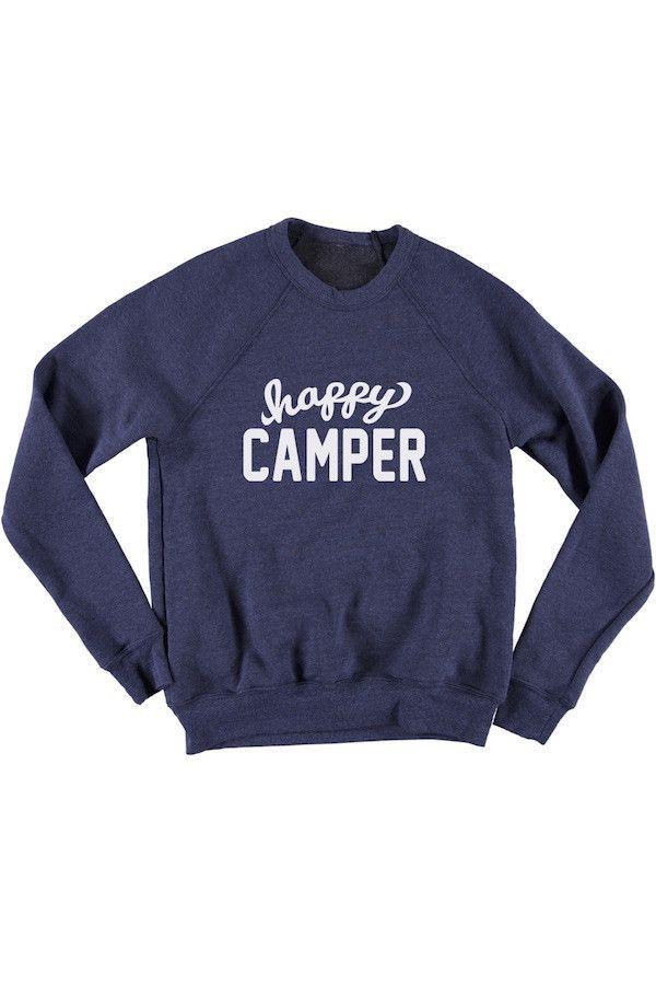 Happy Camper Unisex Crew Sweatshirt
