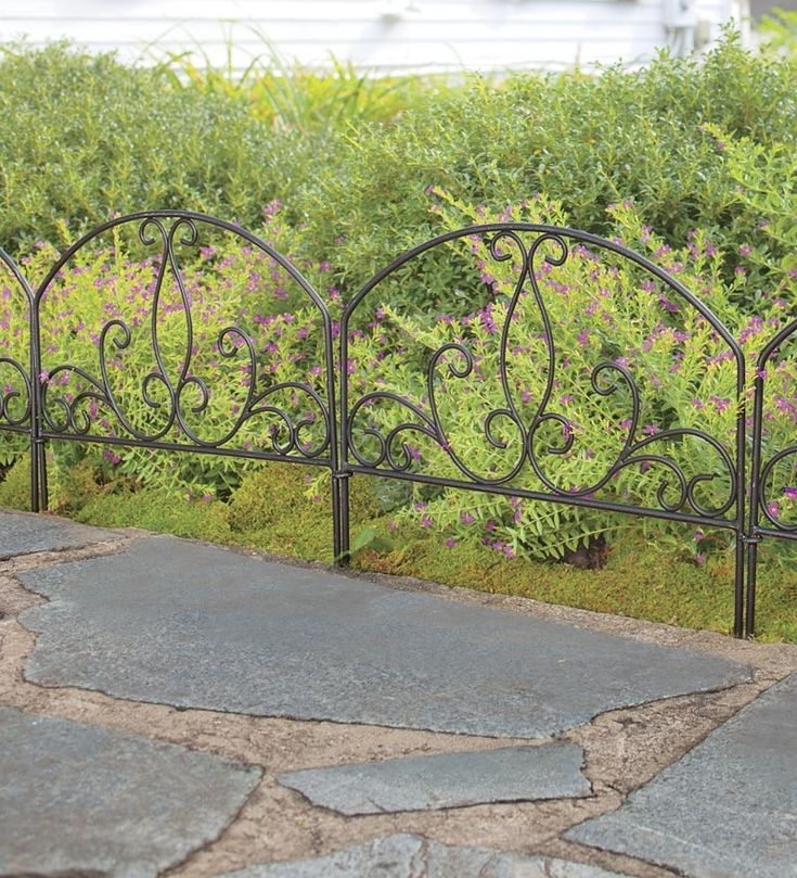 These Lotus Flower Wrought Iron Garden Fence Panels Are The Perfect Way To  Define Your .