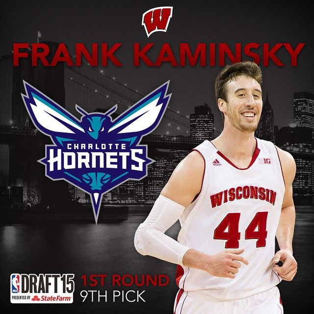 With the 9th pick in the 2015 #NBADraft, the Charlotte Hornets select... Frank Kaminsky. #OnWisconsin #Badgers