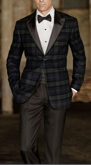 Nothing like a plaid tuxedo to bring the extra touch to your look. I hate seeing everyone at a black tie affair looking the same.  jencook.jhilburn.com