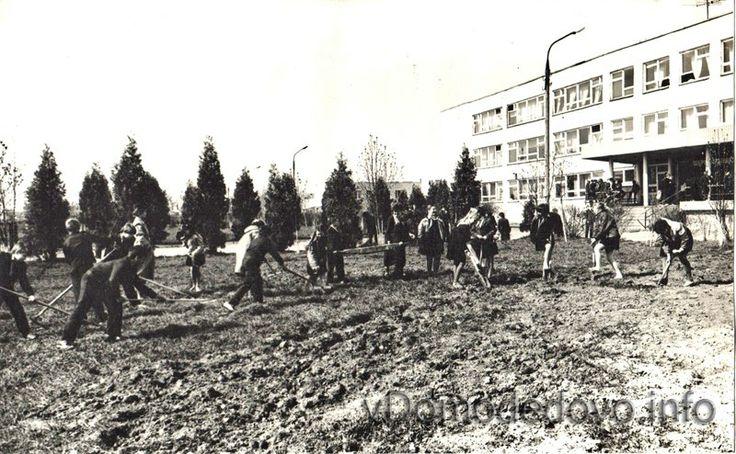 Ретро фотографии Гальчинской средней школы, которая открыла свои двери в 1979 году.