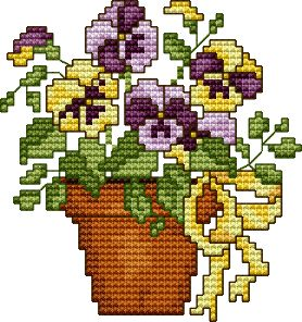 "Free Cross Stitch Pattern ""Spring 99"" I love this. It is very similar to the one on the card ;)"