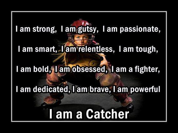 Best 25+ Softball Catcher Quotes Ideas On Pinterest