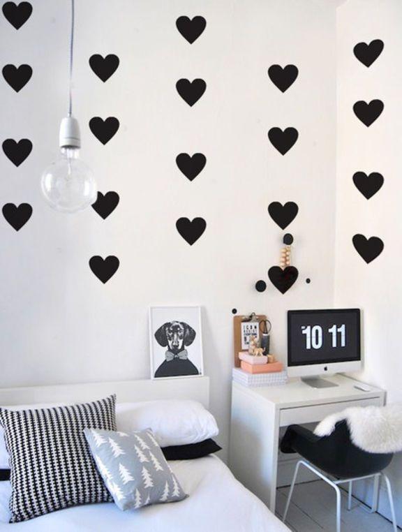 adesivo de parede coração - decoração mode deco