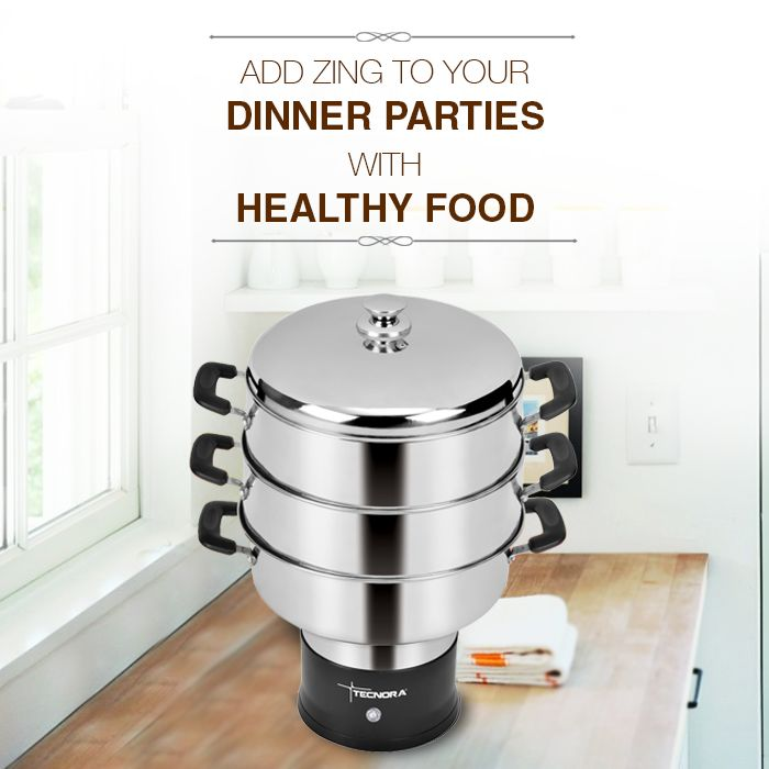 This festive season, add zing to your dinner parties with healthy food! Tecnora Multi-steam Cooker features stainless steel steaming chambers and a unique circumference steam release system that locks in flavors to deliver a healthy & tasty meal every time.