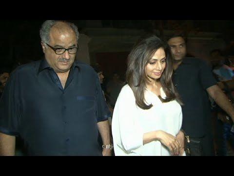 Sridevi with husband Boney Kapoor attends Dil Dhadakne Do's trailer screening.