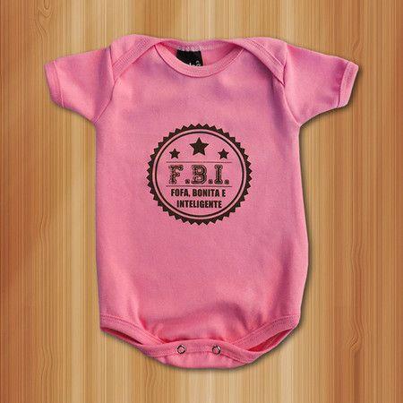 Body FBI: Fofa, Bonita e Inteligente - Roupas De Bebês Divertidas e Engraçadas