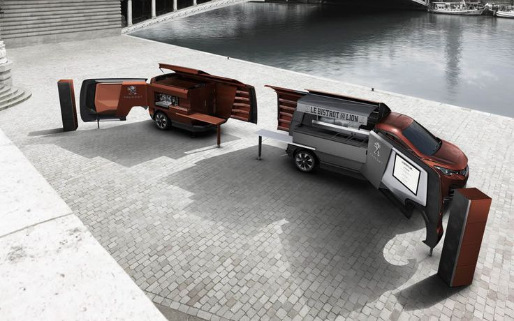The Peugeot Foodtruck - 'Le Bistrot du Lion' is also designed to recuperate and recycle all waste and ensure that once folded up, Le Bistrot Du Lion leaves the city in exactly the same state as when it arrived.