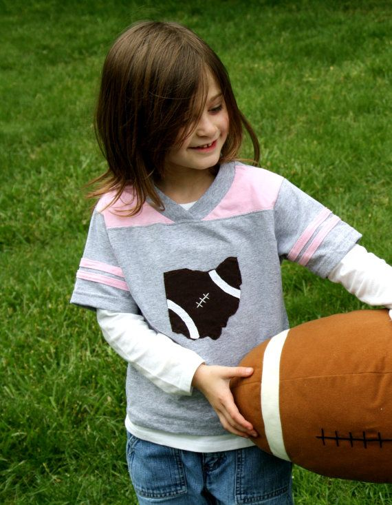 Ohio Football TShirt for TODDLER GIRLS Football by twinzzshop, $24.50