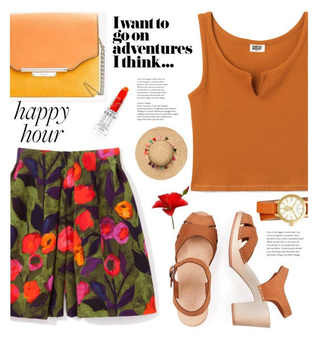 """Bright shorts"" by susli4ek ❤ liked on Polyvore featuring rag & bone and Tory Burch"