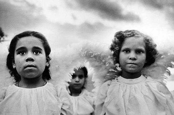 Three Communion Girls, Brazil, 1981 © Sebastião Salgado