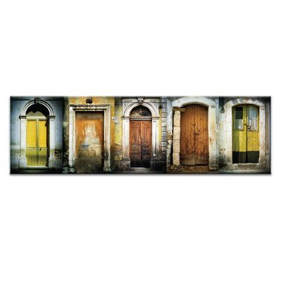 Artist Lane Doors of Italy - Le Porte Gialle by Joe Vittorio Framed Photographic Print on Wrapped Canvas