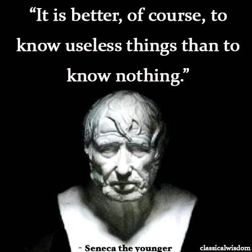 Seneca the Younger on Knowledge