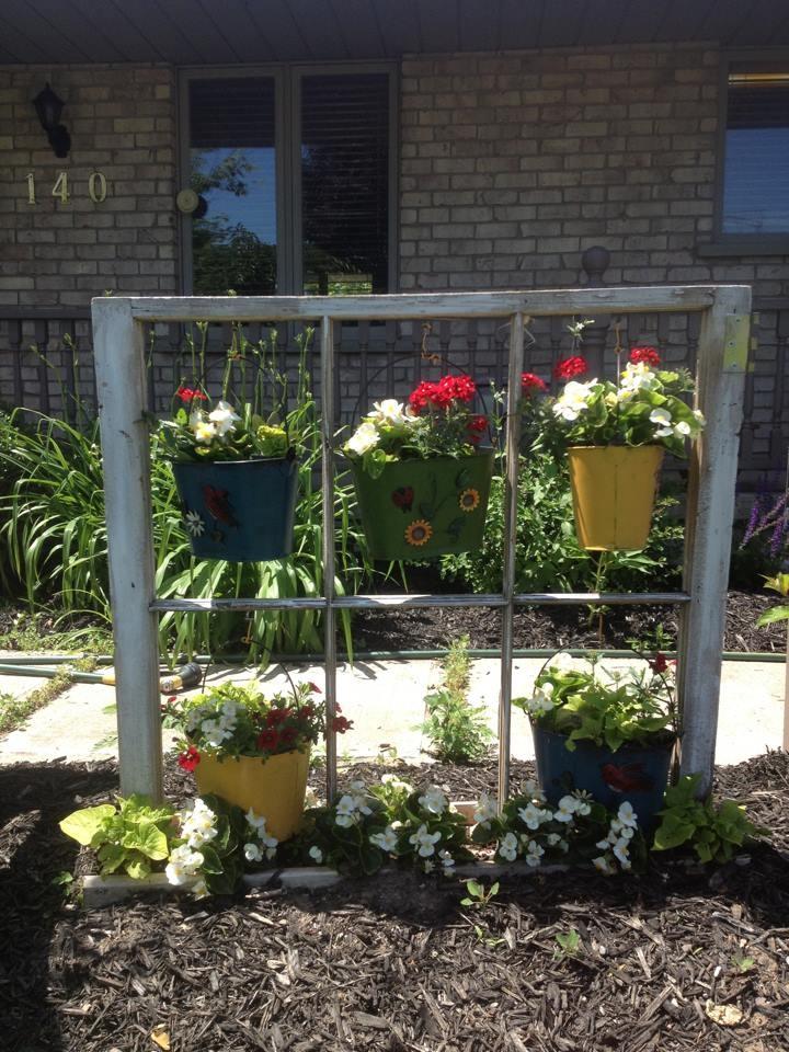 Old window in garden house ideas pinterest for Window garden
