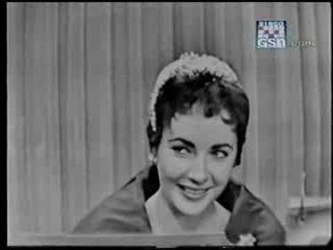 "Elizabeth Taylor on ""What's My Line"" 1954  She is quite a character"