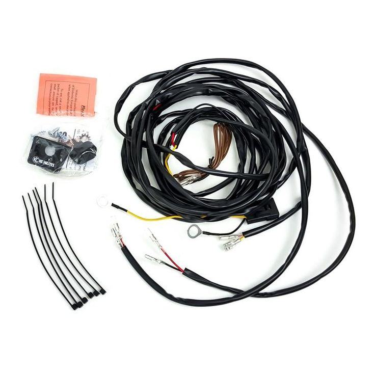 Wiring Harness for Two Cyclone LED Lights with Connectors