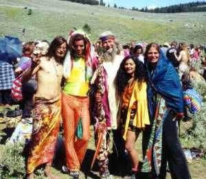 Hippie fashion:Hippie people have lived harmony with nature.So that their fashion was decied by their lifestyle.They use bright color for their clothes,sometime ragged and  tie-dyed t-shirts. They used beads for their food and sandals.They wore long hair.Hippie man wore beard or mustache.Hippie woman were ralely make-up and often went out with braless.