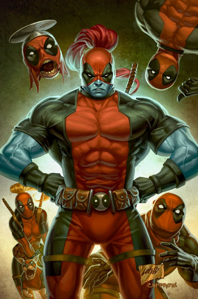 Deadpool corps line art by rob liefeld colours by for Headpool