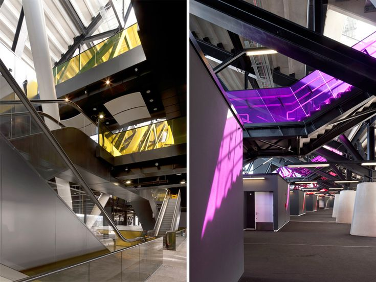 Staircases at the Olympic stadium by Populous