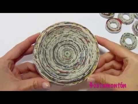 Вазы из газетных трубочек- zapivo.net - YouTube