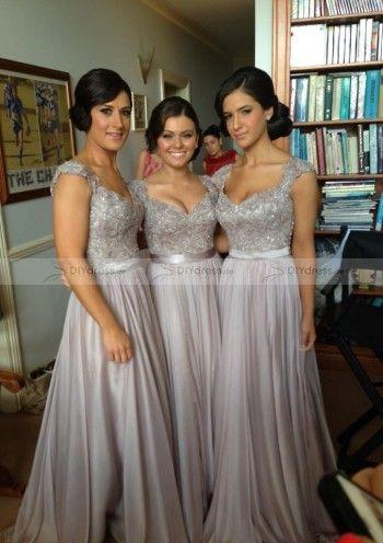 Schöne Applikationen Chiffon Brautjungfernkleid Bridesmaid Dress