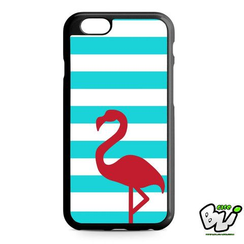 Stripes Red Flamingo iPhone 6 Case | iPhone 6S Case