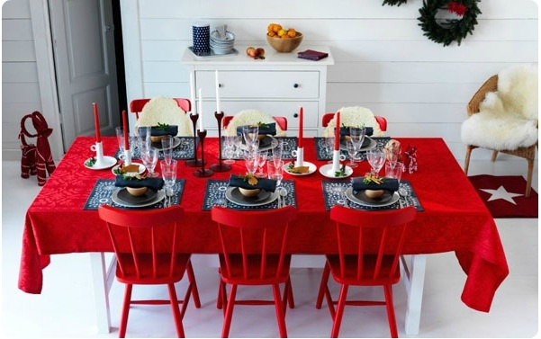 IKEA christmas dining table