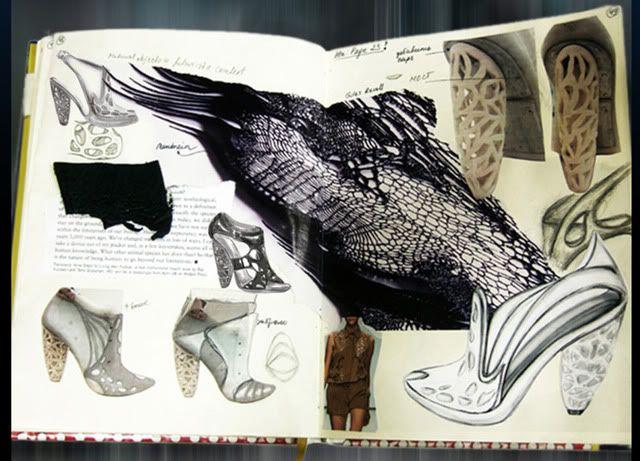 Fashion Sketchbook - organic meets futuristic fashion, footwear design & development - fashion design process; shoe sketches; fashion portfolio // Anastasia Radevich