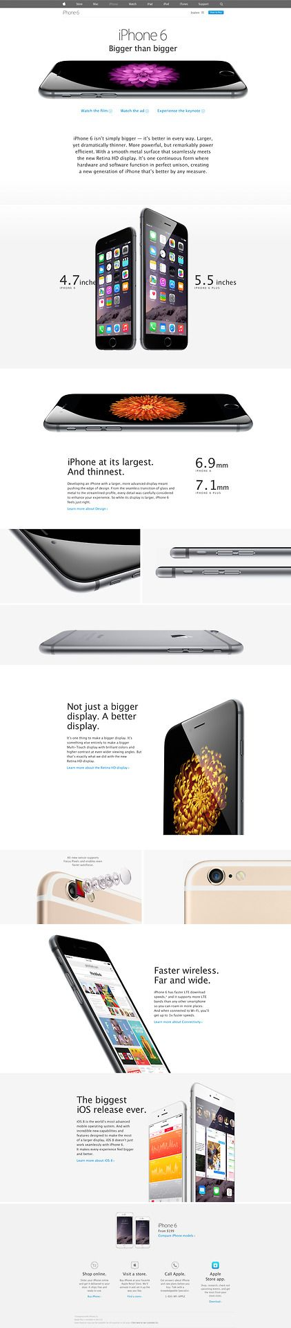 Unique Web Design, iPhone 6 #WebDesign #Design (http://www.pinterest.com/aldenchong/)