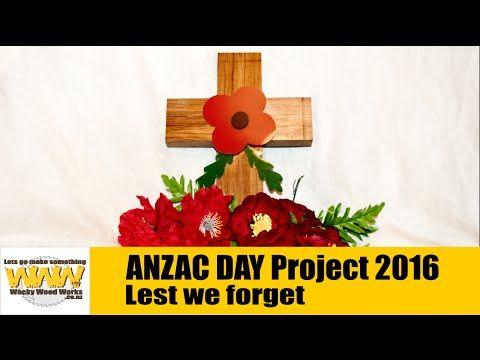 ANZAC Day Cross - Wacky Wood Works.