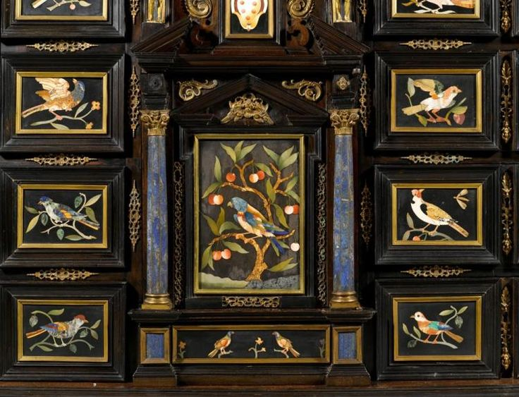"""IMPORTANT CABINET, INLAID WITH """"PIETRA DURA"""""""