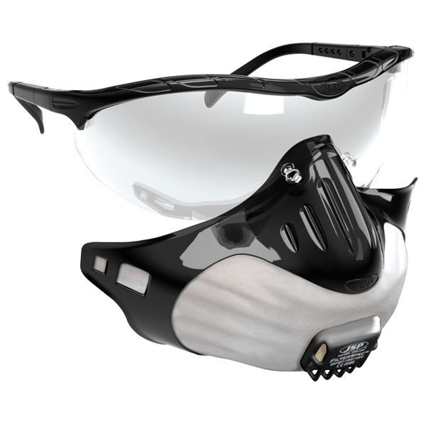 Safety Glasses & Dust Face Mask, JSP FilterSpec Black FMP3 Valved Filter, PPE | eBay