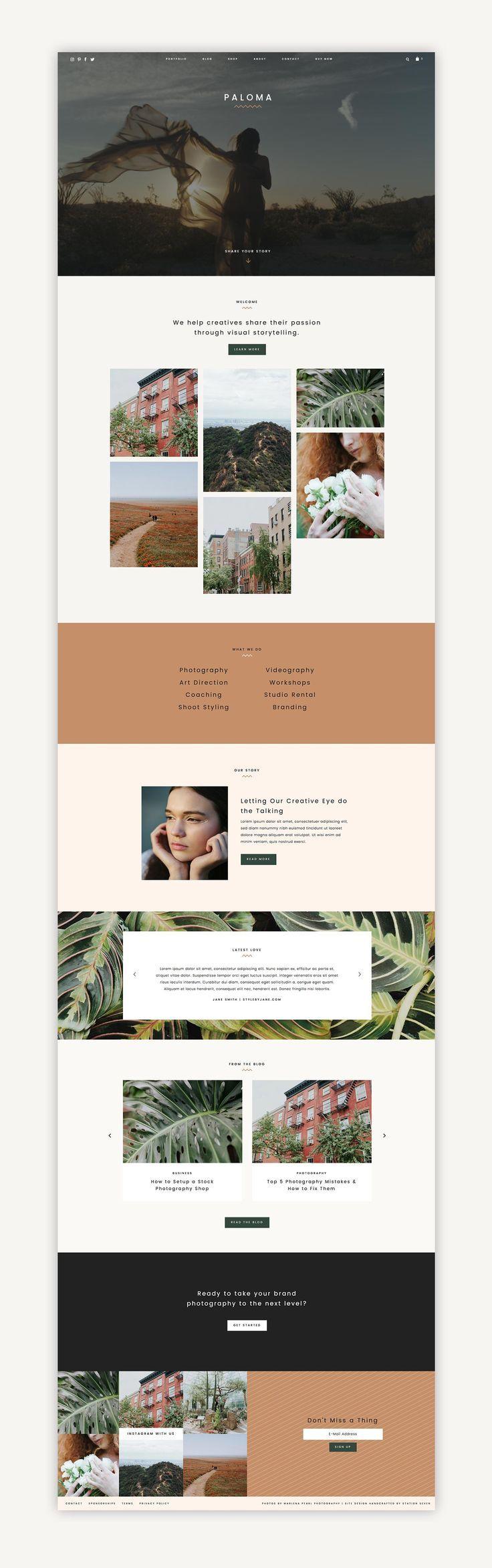 Paloma WordPress Theme - Station Seven WordPress Themes