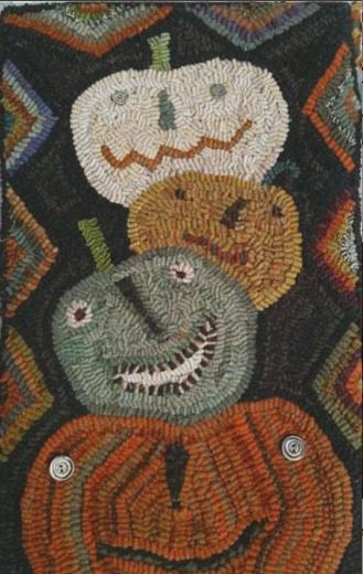 126 Best Rug Hooking Pumpkins Images On Pinterest Rug