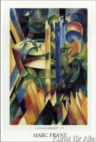 Franz Marc - Die kleinen Bergziegen, 1917