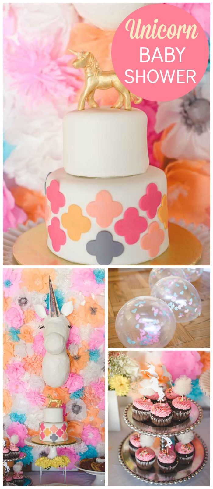Baby Shower Unicorn Theme ~ Unicorn and paper flowers baby shower quot