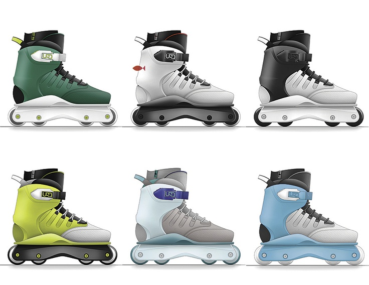USD Empire Aggressive Inline Skates by Kyle Solá at Coroflot.com