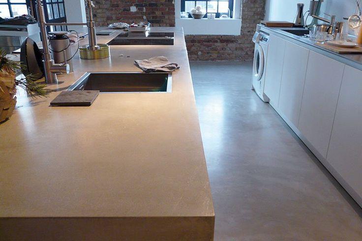 ber ideen zu betonarbeitsplatte auf pinterest betonstufen arbeitsplatte und betonboden. Black Bedroom Furniture Sets. Home Design Ideas