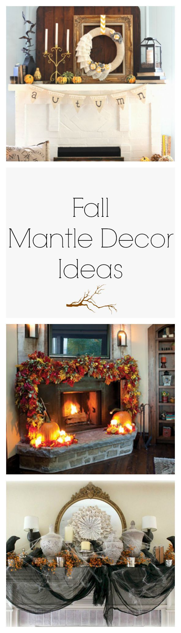 Give your fireplace a makeover this fall with these mantel decorating ideas that celebrate the autumn harvest, Halloween, and everything in between.
