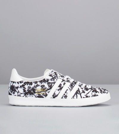 Sneakers imprimées fleurs Gazelle Blanc Adidas Originals pour femme prix Baskets Adidas Monshowroom 95.00 €