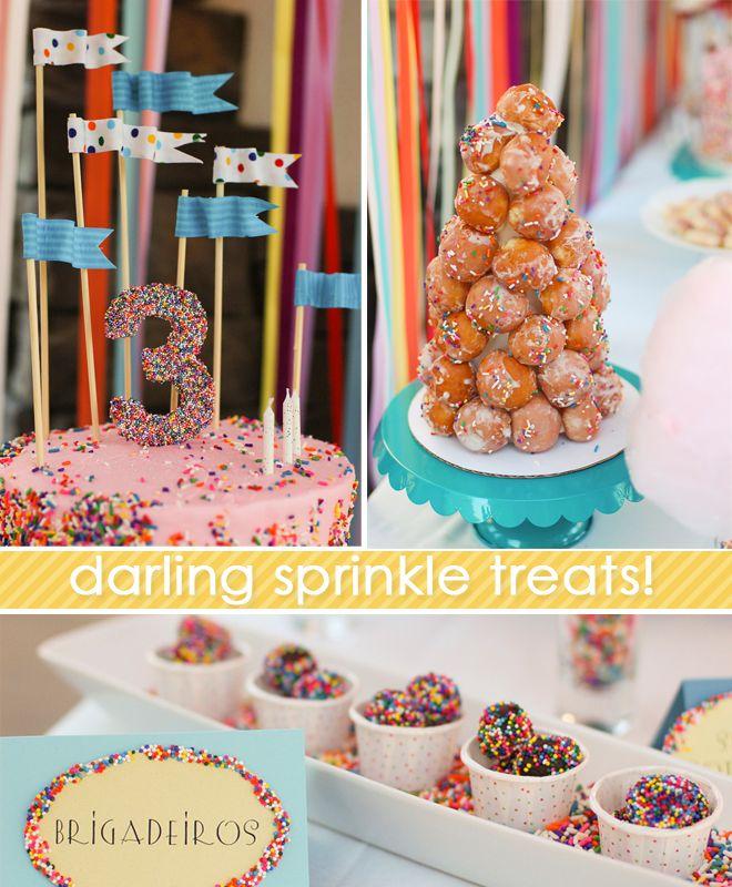 sprinkles themed birthday party: Theme Birthday Parties, Themed Birthday Parties, Donuts Hole, Theme Parties, Sprinkles Theme, Parties Ideas, Baby Sprinkles, Birthday Party'S So, Sprinkles Parties