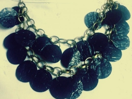 Circles. Recycled / Upcycled Garbage Bag Necklace