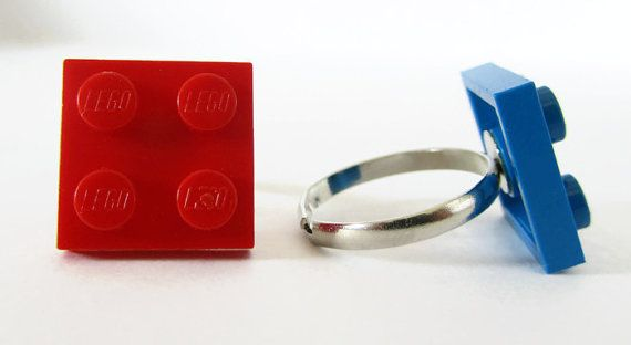 LEGO® Rings LEGO® Jewellery Funny Rings Unique by ThinkBricks