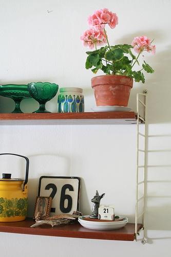 String in my kitchen. #shelf #mid century