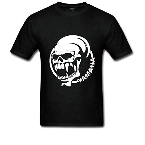 T Shirt Male Hipster Tops Casual O-Neck Short-Sleeve Tee Shirts Xword Road Rage Skull Yamaha T Shirt For Mens For Men