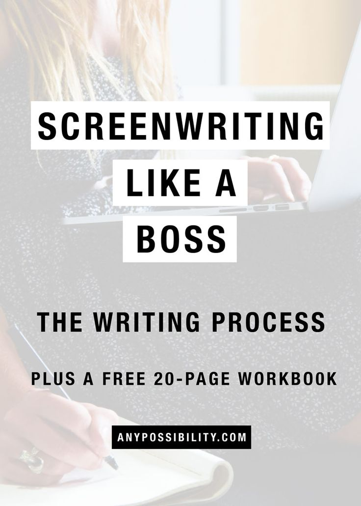 Screenwriting Like a Boss: The Writing Process. Check out the full post for how to utilize the screenwriting process in order to have a successful career in the film industry, television industry, and entertainment industry in general.