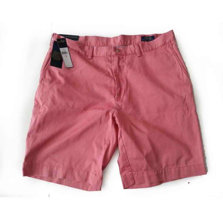 "#cloth shoes boots POLO Ralph Lauren Men shorts Size 36 light red 9"" inseam 100% cotton RalphLauren withing our EBAY store at  http://stores.ebay.com/esquirestore"