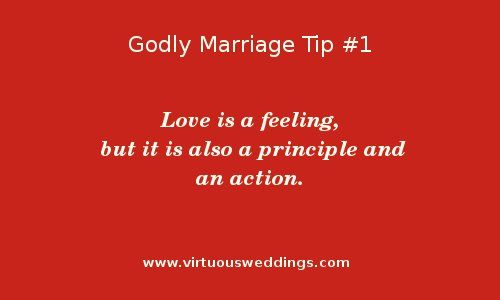Godly Marriage Tip #1| More Godly Marriage Tips at www.virtuousweddings.com!